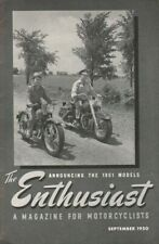 1950 September The Enthusiast - Presenting the 1951 Harley-Davidson Motorcycles