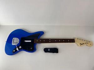 Wireless Sony Playstation PS4 Blue Fender Jaguar Rock Band 4 Guitar Rival VGC!!