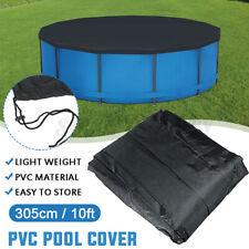 10ft 305cm Round PVC Swimming Pool Cover for INTEX Outdoor UV Dustproof  A L