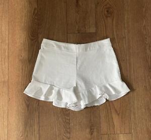 White Zara Shorts M Medium Frill Ruffle Dress For Summer Top Buy