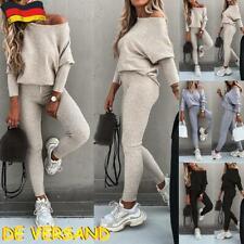 Damen Trainingsanzüge Hausanzug Sportanzug Pullover Tops Hose Set Loungewear DE