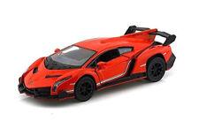 "Brand New 5"" Kinsmart Lamborghini Veneno Diecast Model Toy Car 1:36 Orange"