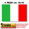 4PZ. * Adesivo BANDIERA ITALIANA cm15x10 adesivi bandiera italiana tricolore