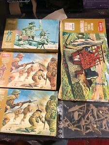 1/32 Airfix vintage small lot Brown Box strongpoint,8th Army and Africa korps