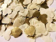 Ivory Crema y Oro Corazón Boda Confeti-Mesa De Fiesta Decoraciones