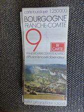 Carte IGN 1:250000  bourgogne franche comte   n° 9 Bi Carte 1976