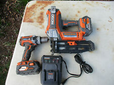 RIDGID TOOLS Hand Tool R09892+drill (2)4.0 batterys and charger