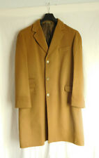 New Men's Single Breasted Camel Wool Overcoat