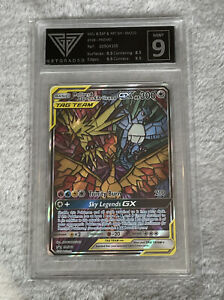 Pokémon Moltres&Zapdos&Articuno GX - Get Graded - Mint - 9 - UK Seller