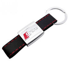 AUDI S LINE LEATHER DOUBLE SIDE KEYRING KEYCHAIN STYLISH A1 A3 A4 A5 A6 A8 Q7 TT