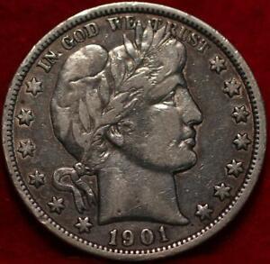 1901-O New Orleans Mint Silver Barber Half Dollar