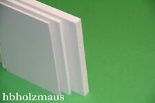 (11,99€/m²) PVC Hartschaum weiß , Zuschnitt Platte , 2 mm, Zuschnitt wählbar