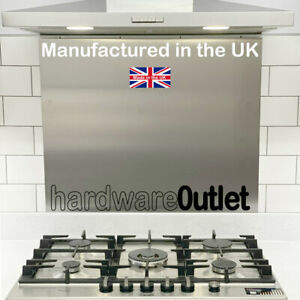 Brushed Stainless Steel SPLASHBACK 600mm x 750 x 0.9mm Kitchen Made in England