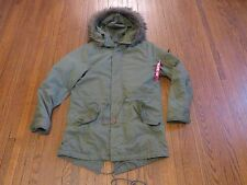 Alpha Industries x Urban Outfitters M-65 Fishtail Parka Olive Green Jacket sz M