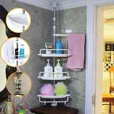 4 Tier Adjustable Telescopic Bathroom Corner Shower Shelf Rack Caddy Organiser
