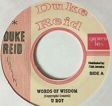 "U ROY - WORDS OF WISDOM - TREASURE ISLE SKANK - DUKE REID 7"""
