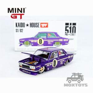 Kaido House & MINIGT Datsun 510 Pro Street OG Purple Diecast Model Car
