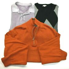 Merona Men's Large Mixed Styles & Colors Sweaters & Polo Shirt Lot of 3