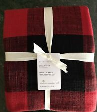 Pottery Barn Bryce Buffalo Check Cotton Duvet, Size King.Cal K New,W/ $179.00Tag