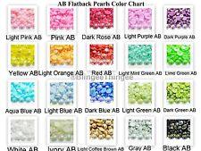AB Flatback Faux Half Round Pearls 2/3/4/5/6/8/10/12/14mm Kawaii Cabochons DIY