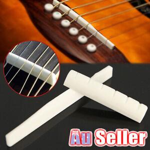 Bone Acoustic Guitar Nut Strings Saddle Bridge End