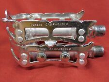 1 Pair Excellent 1971 Patent Campagnolo 1037 Nuovo Record Pedals w/ Strap Loops