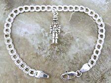 Children's Sterling Silver Charm Bracelet with a Silver Nutcracker Charm - 0496