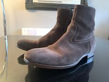 Paul Smith Mens Brown Suede Dip Dyed Kasmin Zip Boots UK 7 EU 41 Fits More UK 8