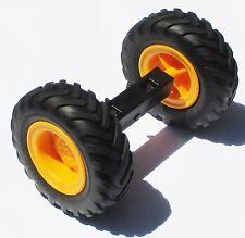 Playmobil Traktor Zubehör RÄDER Radachse aus 3073 4055 ERSATZTEIL Hinterrad Rad