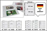 10 x A4 FOTOHÜLLEN SAMMELHÜLLEN POSTKARTENHÜLLEN KARTENHÜLLE 120 my 2 Taschen A5