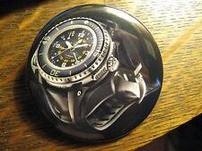 Blancpain Black Fifty Fathoms Wrist Watch Advertisement Pocket Lipstick Mirror