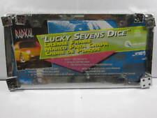 LUCKY 7 DICE METAL LICENSE PLATE FRAME CHROME DIE L419