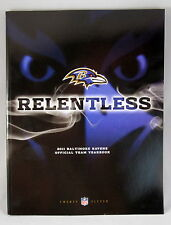 Baltimore Ravens 2011 Official Team Yearbook Magazine NEW