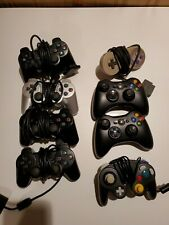 Lot of 8 Broken Controllers (PS2, XBOX 360, SNES, Gamecube)