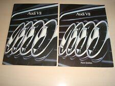 AUDI V8 Formato Grande Folleto Ventas GB & Color / Embellecedor Gráficos enero