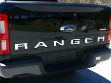"""Chrome Stainless Steel Tailgate Rear """"RANGER"""" Letters FITS 2019 2020 Ford Ranger"""