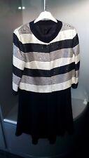 Completo bianco nero con paillettes/dress woman/damen kleid
