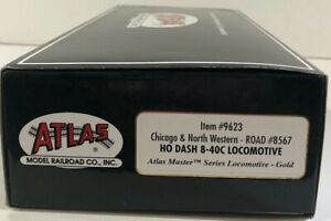 Atlas Master Series Locomotive-Gold #9623 Chicago & NW #8567 8-40C in Box MK