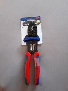 KNIPEX 97 22 240 Crimpzange mit Gewindelöchern zum Abschneiden - 240mm