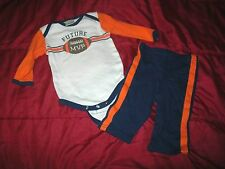 Baby Boy's Baby Gear 3-6 Mos Set Football Future MVP Bodysuit & Pants EUC