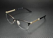 VERSACE VE1228 1291 Black Pale Gold Demo Lens 53 mm Women's Eyeglasses