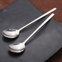 6pcs 8.25'' Korean Dinner Spoon Long handle Stainless steel Coffee Table Spoons
