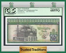TT PK 48 1976-78 EGYPT 20 POUNDS PCGS 68 PPQ SUPERB GEM NEW REPLACEMENT NOTE!