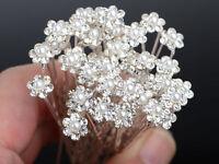 40 Pièces Vente en Gros Mariage Noces Perle Fleur Strass Cheveux Épingle Pince