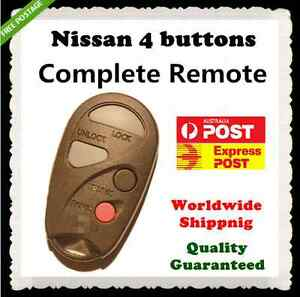 NISSAN PULSAR MAXIMA 4 BUTTON REMOTE  programming manual is provided