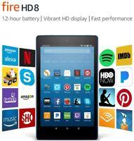 "Amazon Fire HD 8"" 7th Gen 2017 WiFi Tablet, Touchscreen, Alexa, Dual-Band - New!"