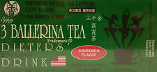 THE 3 BALLERINA TEA DIETERS DRINK EXTRA STRENGTH NO CAFFEINE CINNAMON FLAVOR NEW