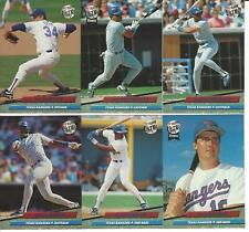 1992 Ultra Texas Rangers Team Set