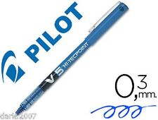 LOTE - 6 PILOT V5 -HI TECHPOINT 0,5mm - COLOR AZUL - NUEVO