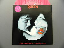 QUEEN Too much love will kill you .. ep 7 /45 pink vinyl  LTD edition NM